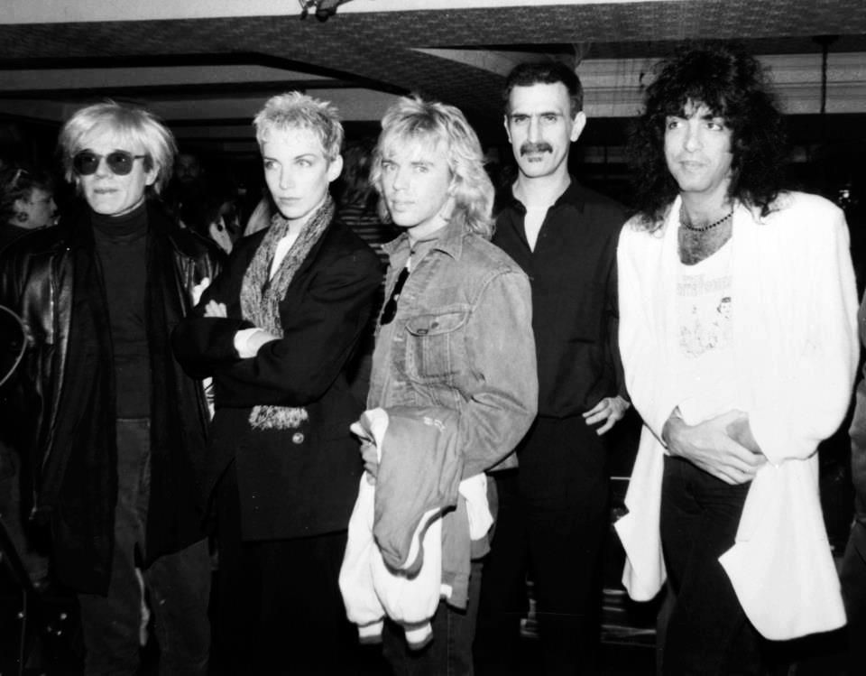 Andy Warhoil Annie Lennox Tommy Shaw Frank Zappa And