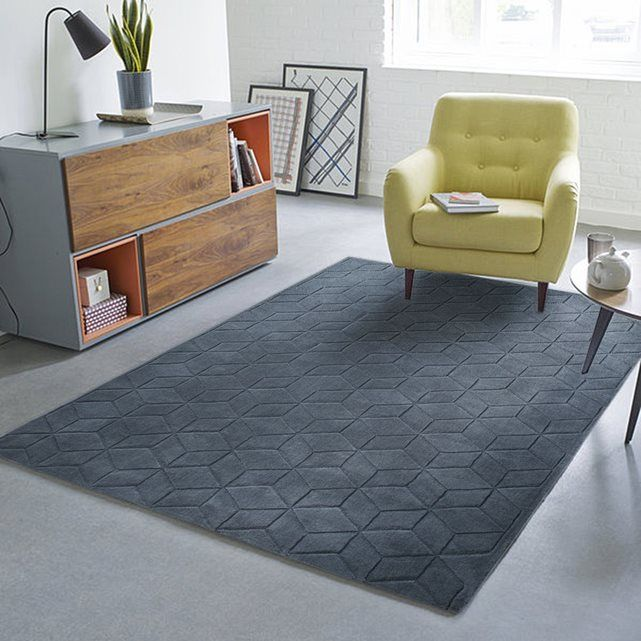 Tapis Pure Laine Effet 3d Falke Home 2 Rugs In Living