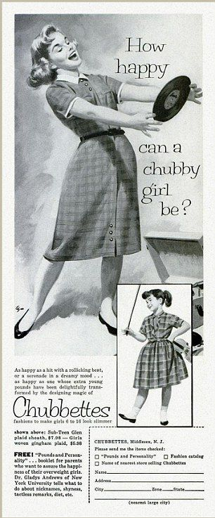 Let's make girls feel better by naming our clothing after an unkind name they will likely be called at school! Cha-ching!