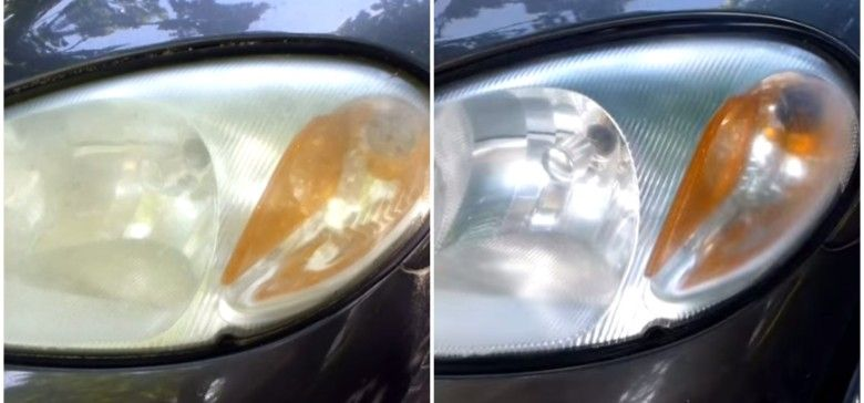 Simple Trick for Restoring Car Headlights #cleaningcars