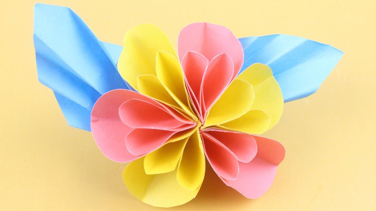 Origami flower how to make easy paper flower tutorial diy paper origami flower how to make easy paper flower tutorial diy paper flower mightylinksfo