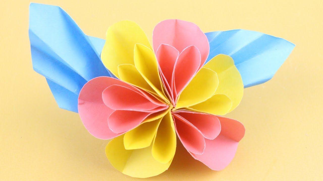 Origami Flower How To Make Easy Paper Flower Tutorial Diy Paper
