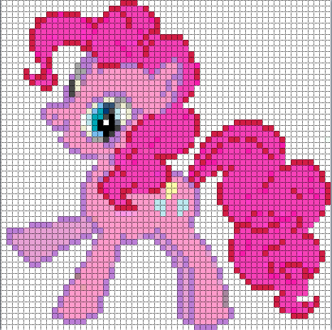 Free my little pony cross stitch | Pinkie Pie Sprite by Bobbeyjazz ...