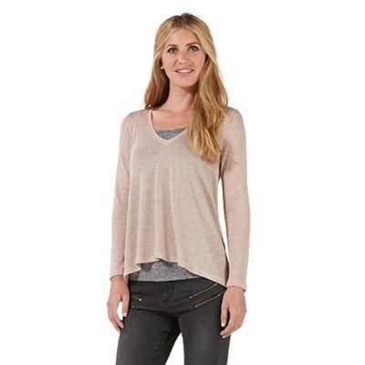 Nine by Savannah Miller Pink metallic jersey top- at Debenhams.com