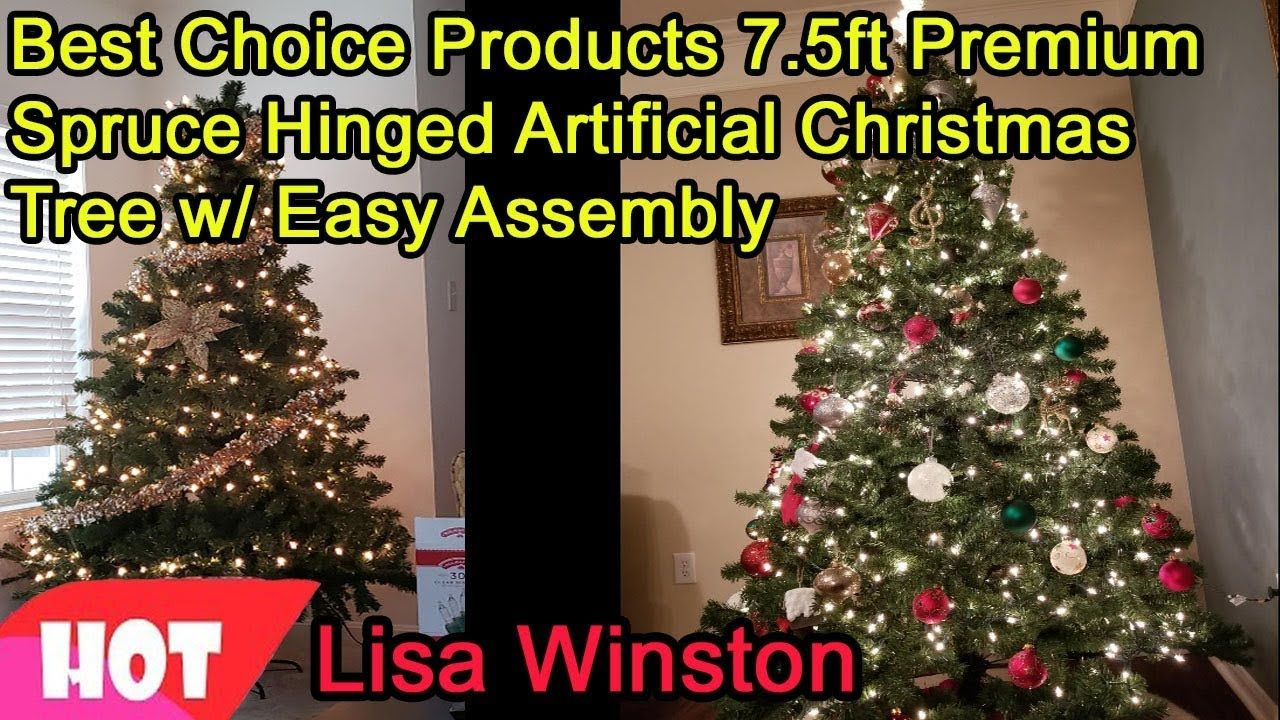 Best Choice Products 7 5ft Premium Spruce Hinged Artificial Christmas Tree W Easy Assembly 2018 Artificial Christmas Tree Cool Christmas Trees Christmas Tree