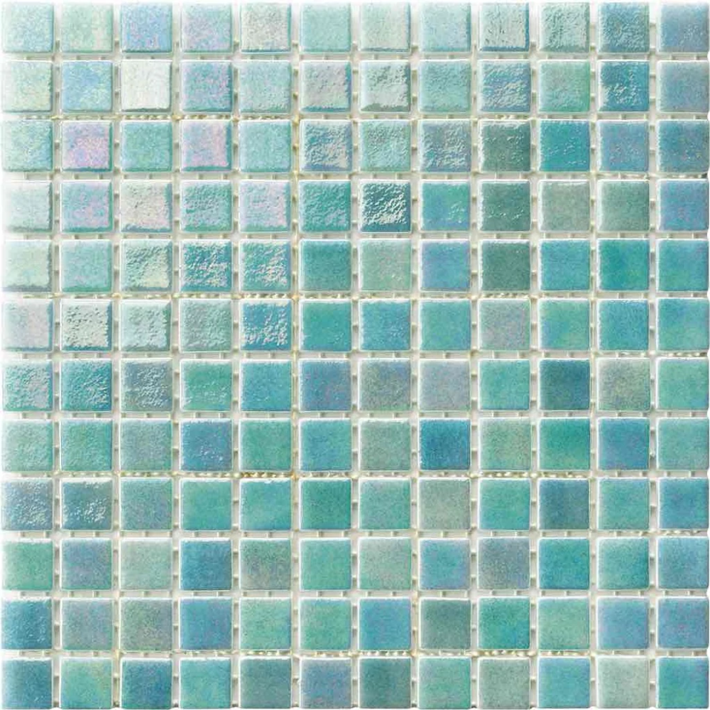 Iridescent Recycled Glass Tile Light Turquoise Recycled Glass Tile Metallic Tiles Bathroom Glass Tile