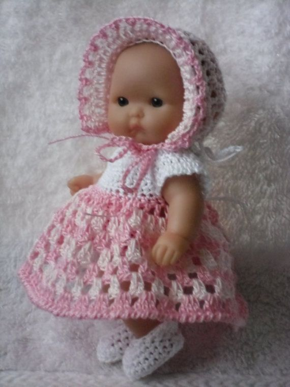 Crochet pattern for Berenguer 5 inch baby doll - dress, bonnet ...