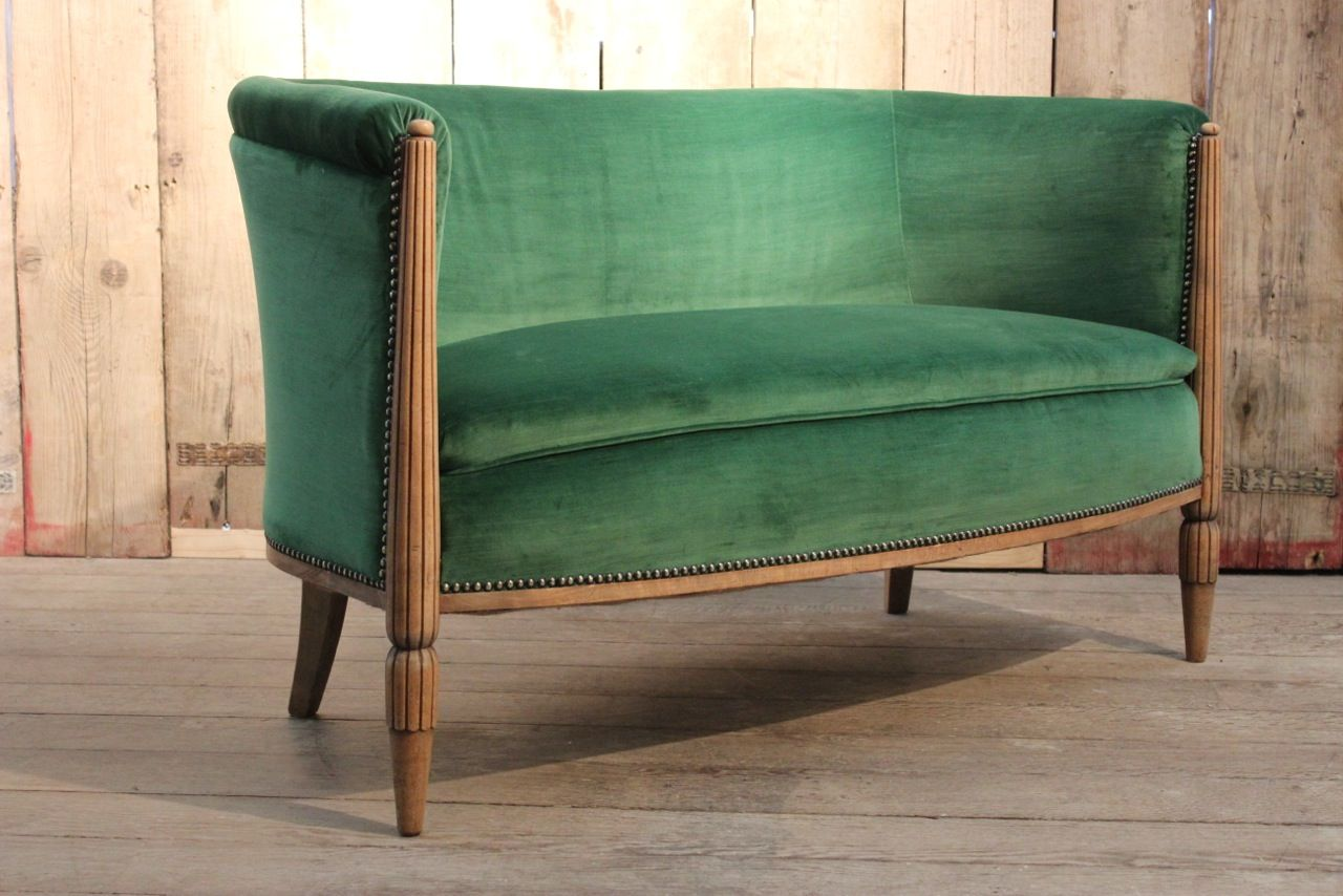 For Sale Xxl Vintage Modular Sofa In Green Velvet Modular Sofa Green Velvet Modular