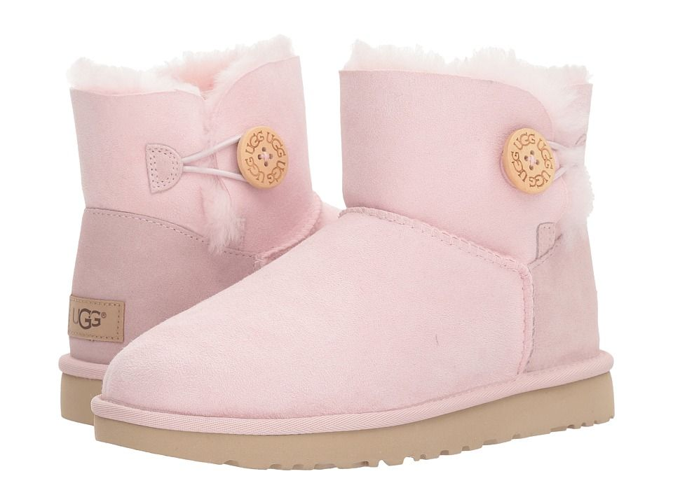 fde52636c14 UGG Mini Bailey Button II Women's Boots Seashell Pink | Products ...