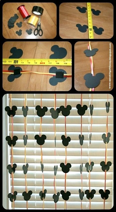 Easy DYI Disney Garland - Decorations for home or hotel room (use