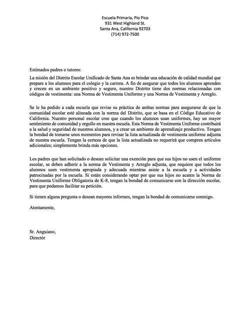 School uniform letters parents agent appointment letter template school uniform letters parents agent appointment letter template free word pdf format download spiritdancerdesigns Images