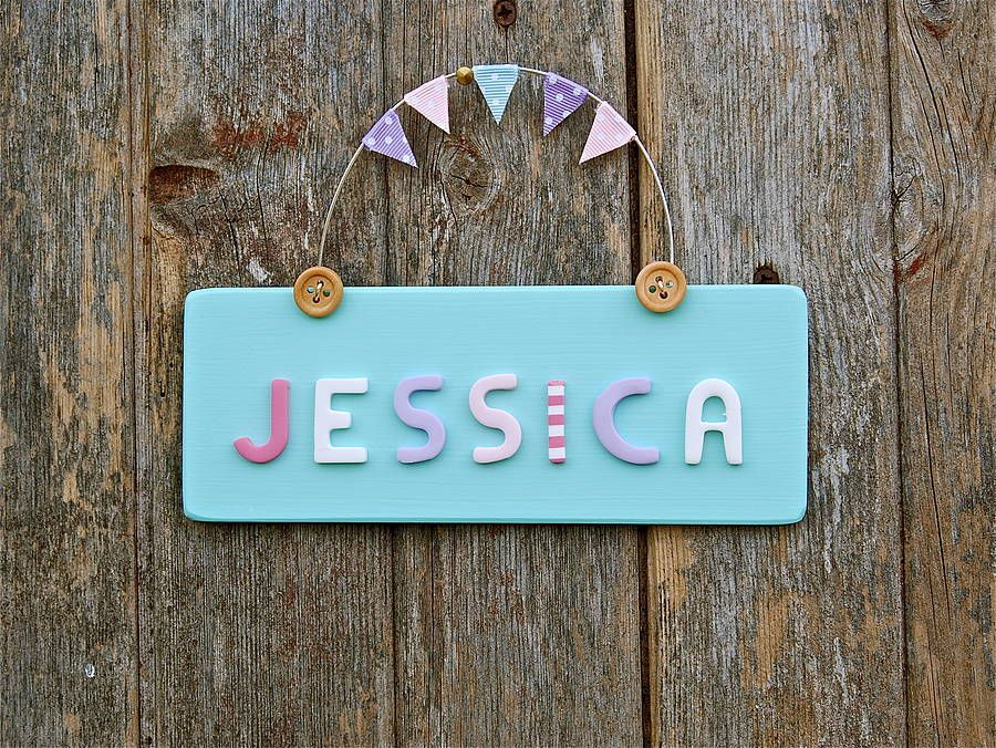 baby name sign- Aqua Clemmies things Pinterest Door signs and