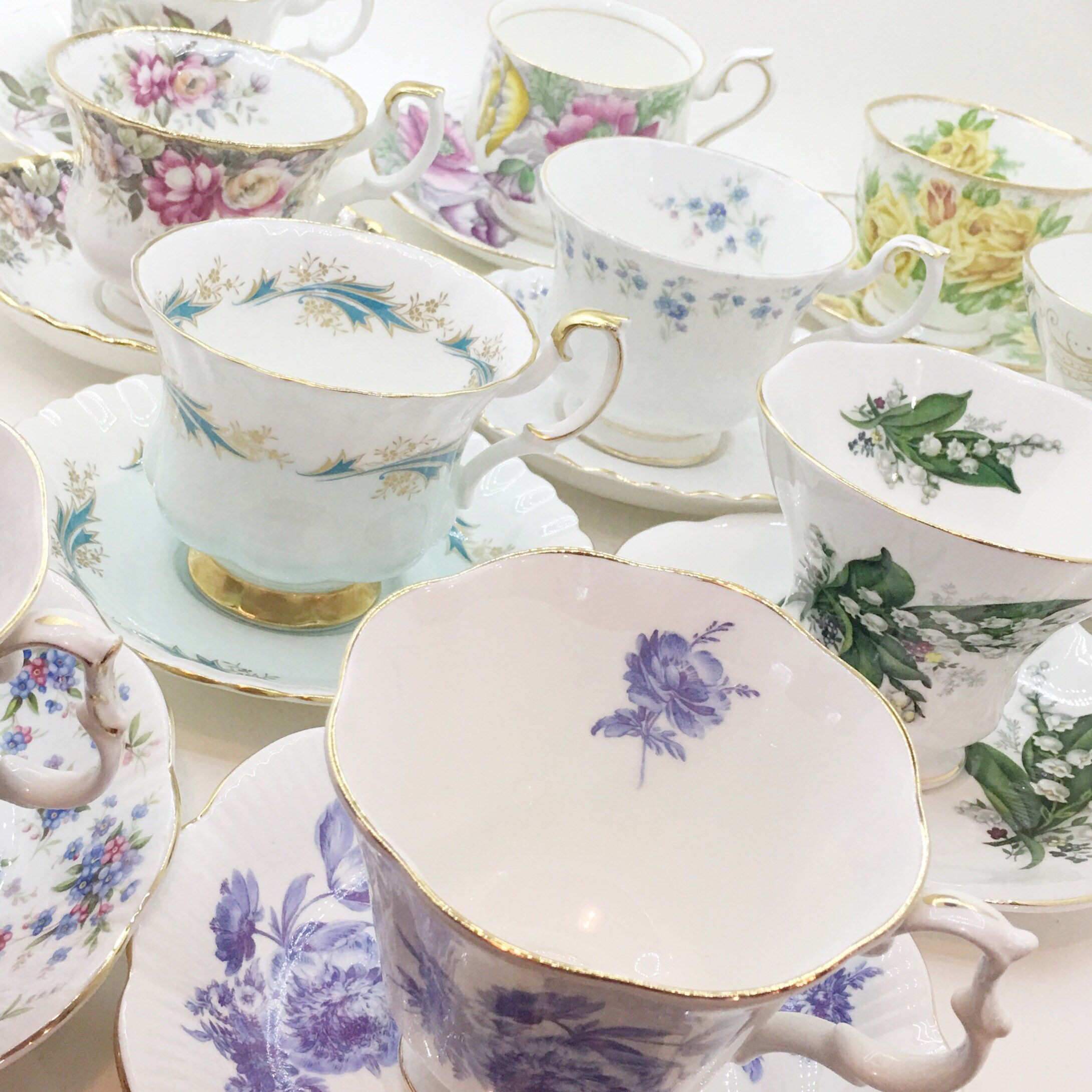 10 Royal Albert Tea Cup Sets Mix and Match Vintage Tea Cups