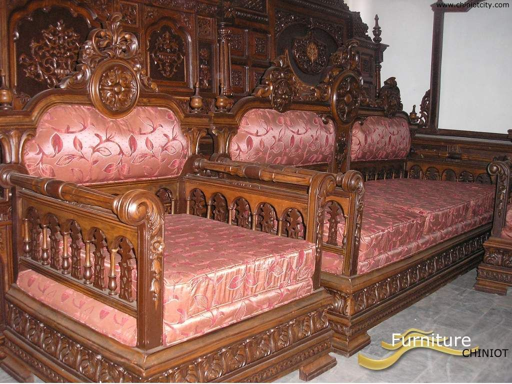 Most Beautifull Deco Paint Complete Bed Set: Chiniot Furniture Pakistan