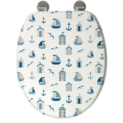 Nautical Toilet Seat Nautical Toiletsbeach Hut
