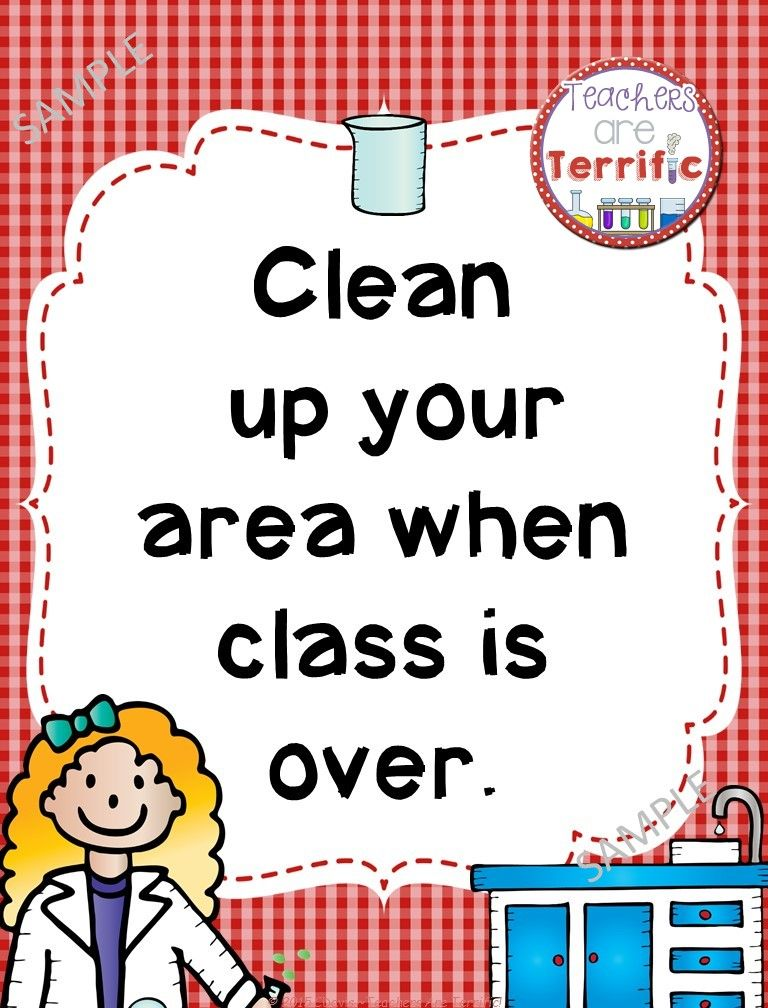 Science Safety Rules Posters In Primary Colors Science Safety Science Safety Rules Science Lab Safety
