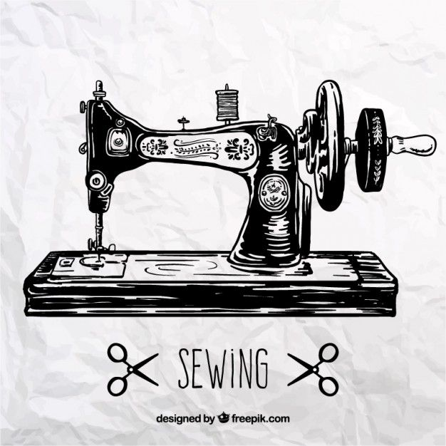 Máquina de coser retro Vector Gratis | dibujos | Pinterest | Costura ...