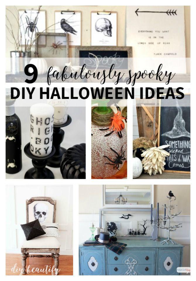 9 Fabulously Spooky DIY Halloween Ideas DIY Halloween, Halloween - halloween diy ideas