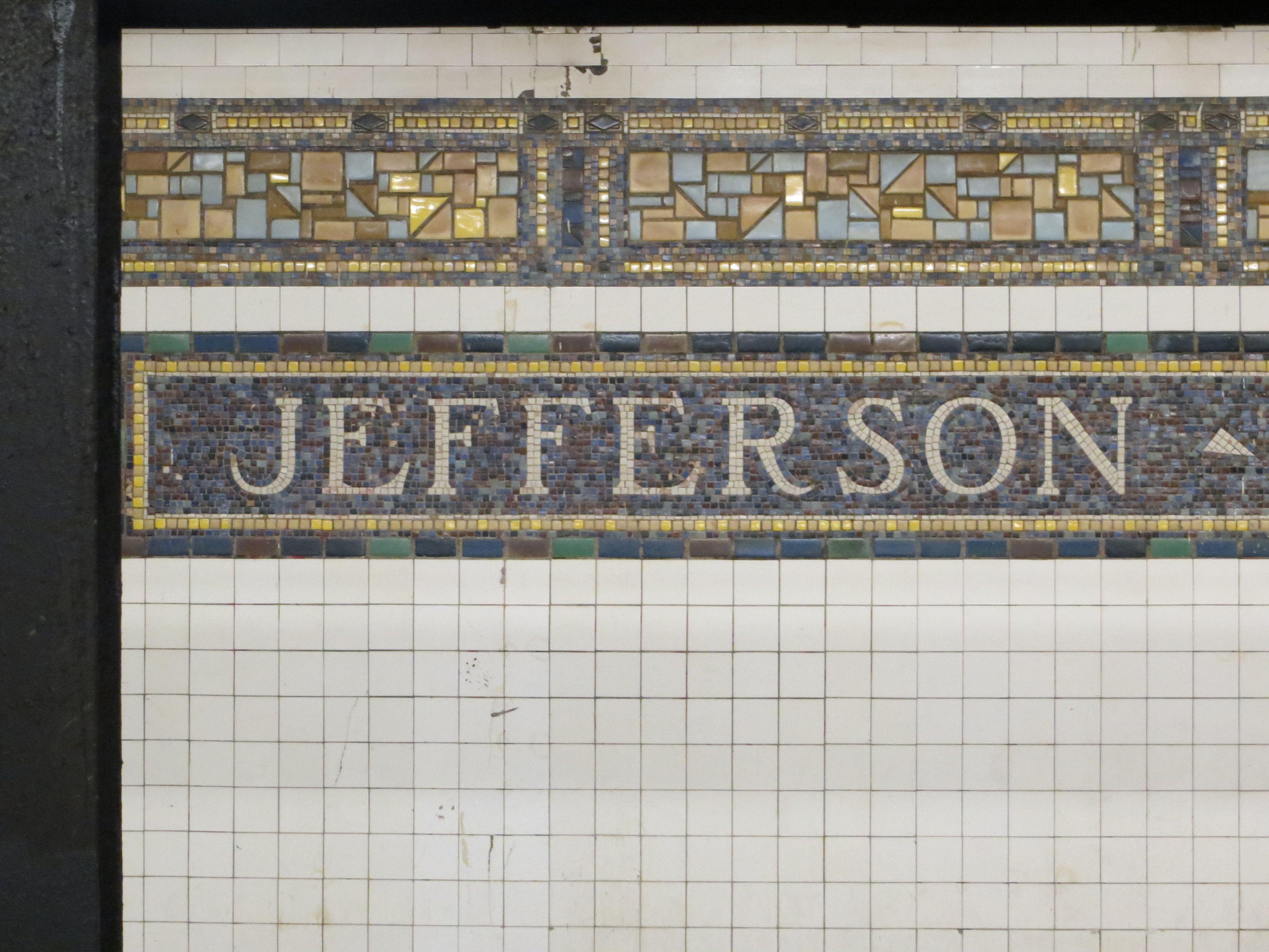 Bushwick Brooklyn Jefferson Street Subway Jefferson Street Subway Train Subway
