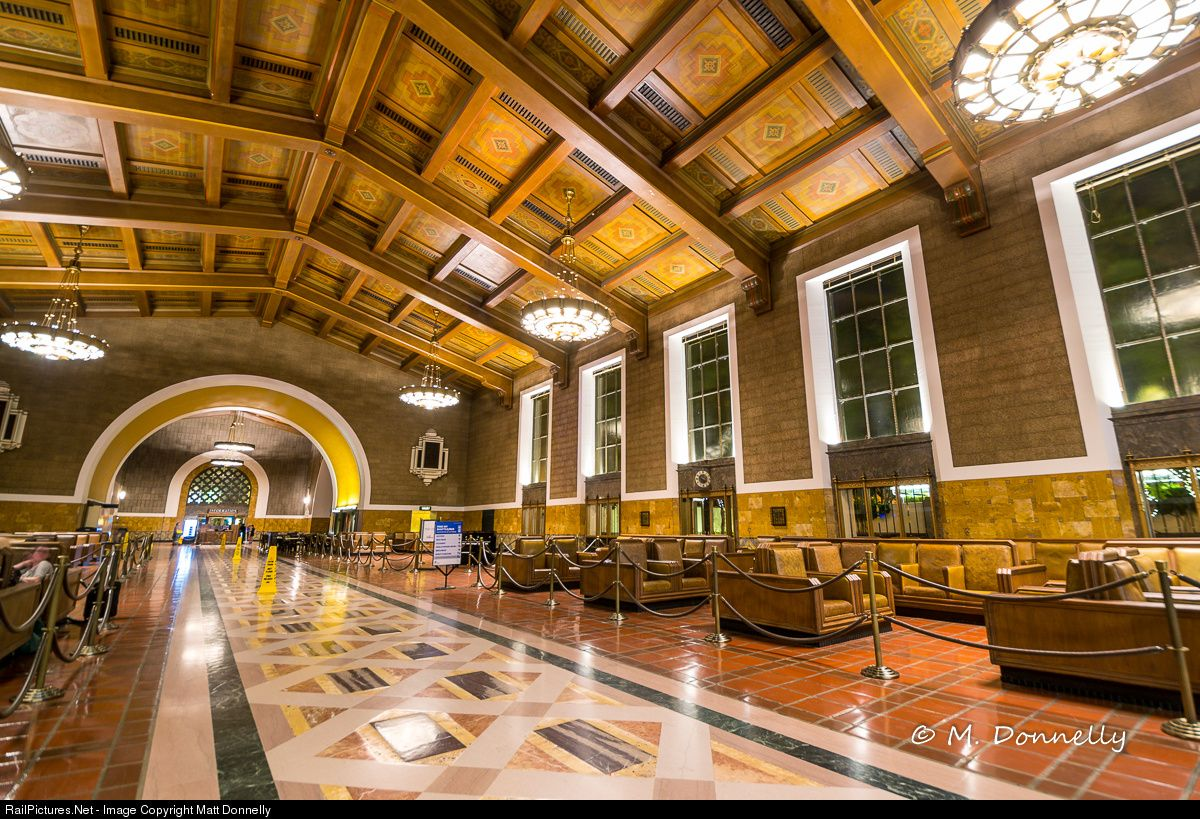 Amtrak station at los angeles california by matt donnelly