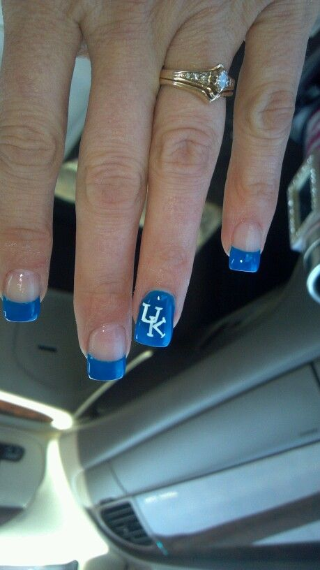 Basketball nails | Kentucky, Big and Uk nails