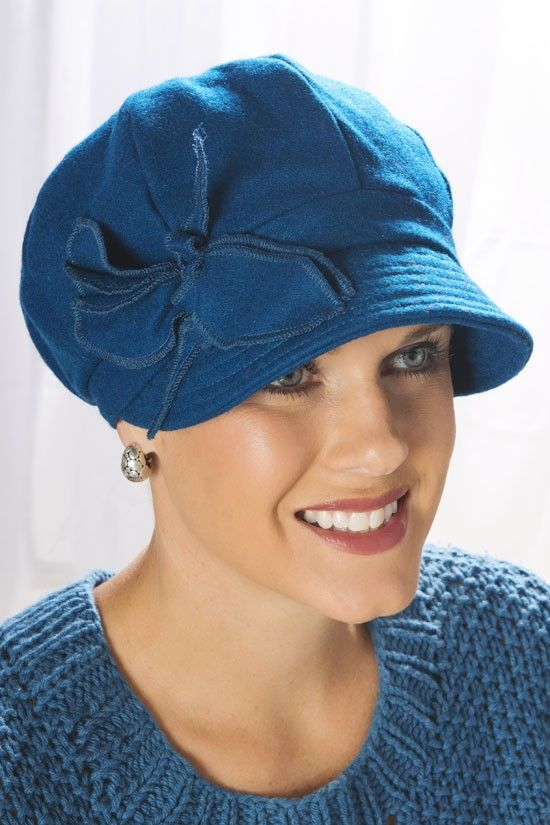 Wool Piper newsboy cap for cancer patients