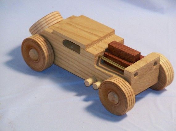 Hand Made Wooden Sedan by CBiggsToys on Etsy, $16.00