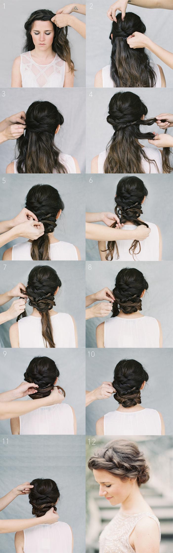 wedding braid hairstyle | Wedding Hair Ideas | Pinterest | Chignon ...