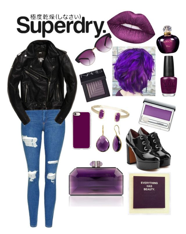 """""""The Cover Up – Jackets by Superdry: Contest Entry"""" by mattiepogach on Polyvore featuring Superdry, Topshop, NARS Cosmetics, OPI, Christian Dior, Clinique, Casetify, Marc Jacobs and Kenzo"""