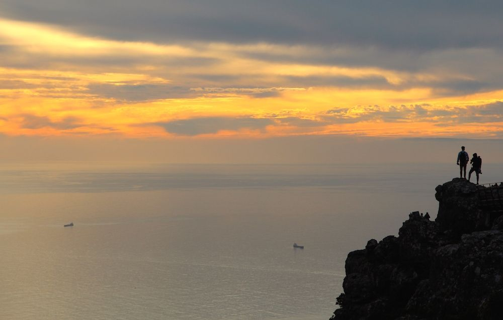 Sunset atop Table Mountain in Cape Town, South Africa
