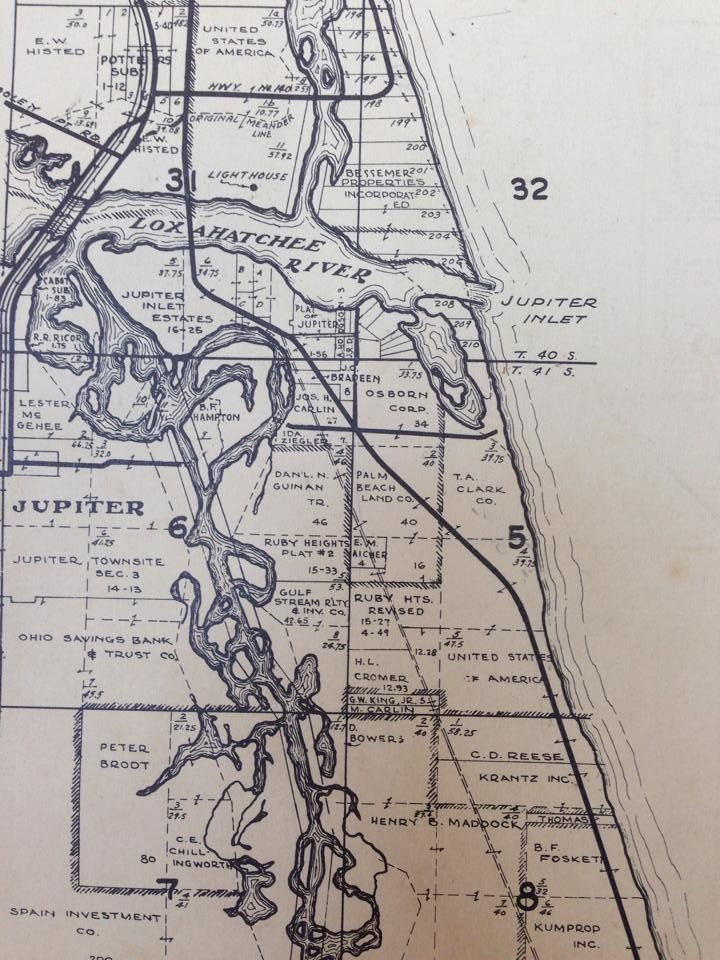 Map Jupiter Florida.Via Ginger Pedersen And Jupiter Old Days By Rob Thomson Another