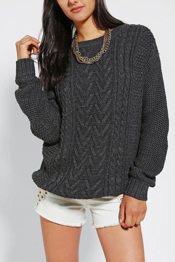 Urban Outfitters - BDG Fall For Cable-Knit Sweater. Give me all ...