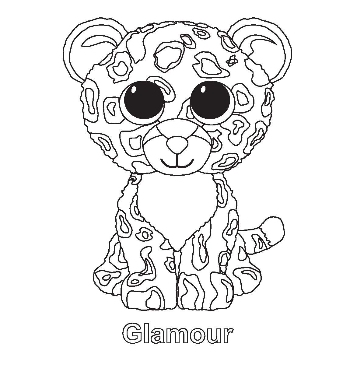 glamour beanie boo coloring pages printable and coloring book to print for free find more coloring pages online for kids and adults of glamour beanie boo - Beanie Boo Coloring Pages