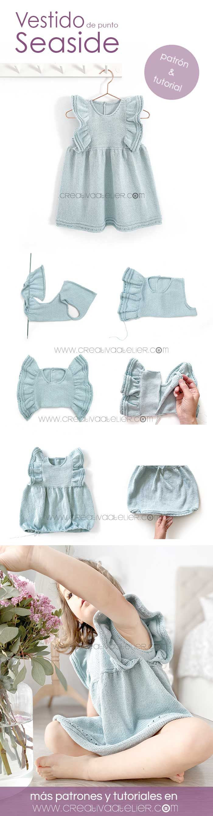Vestido de Punto – SEASIDE DRESS- Patrón y Tutorial