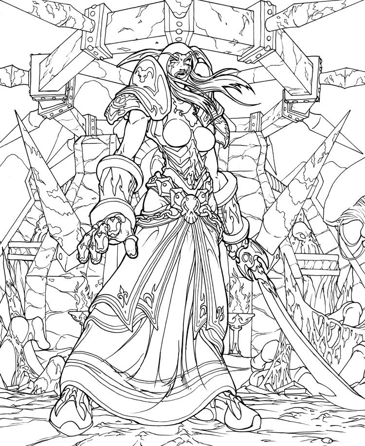 Free coloring pages of world of warcraft  Coloring pages