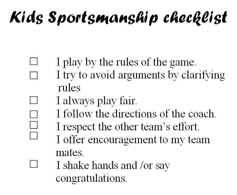 Teach good sportsmanship the lesson that lasts a lifetime