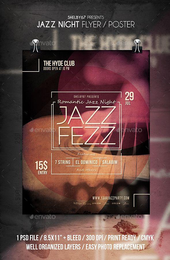 Jazz Night Flyer   Poster Jazz, Flyer template and Template - open house flyer template