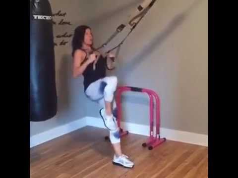 Try this workout with the TRX bands for your legs and booty! www.jendelvaux.com