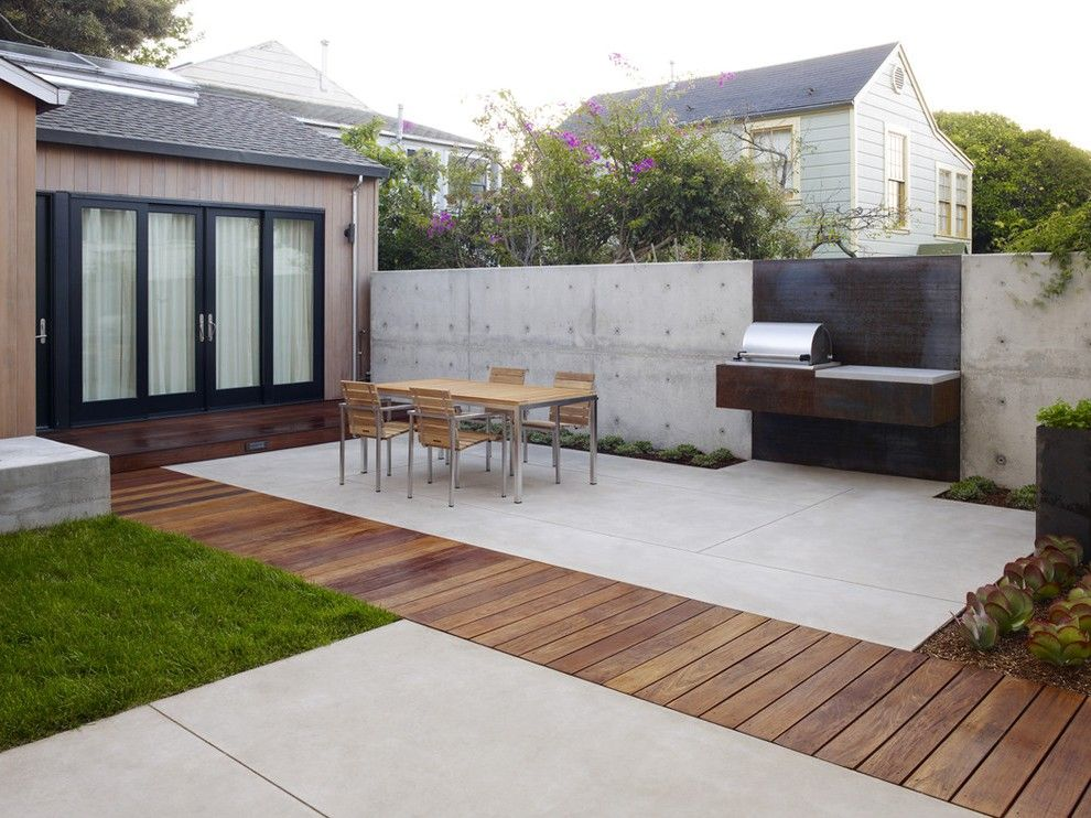Cement Patio Ideas Modern With Terrace Round Outdoor Flower Pots