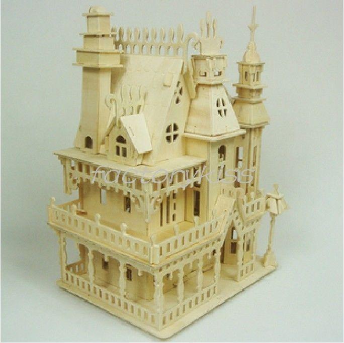 3d Fantasy Villa Doll House Woodcraft Construction Kit Wood Model Ljn