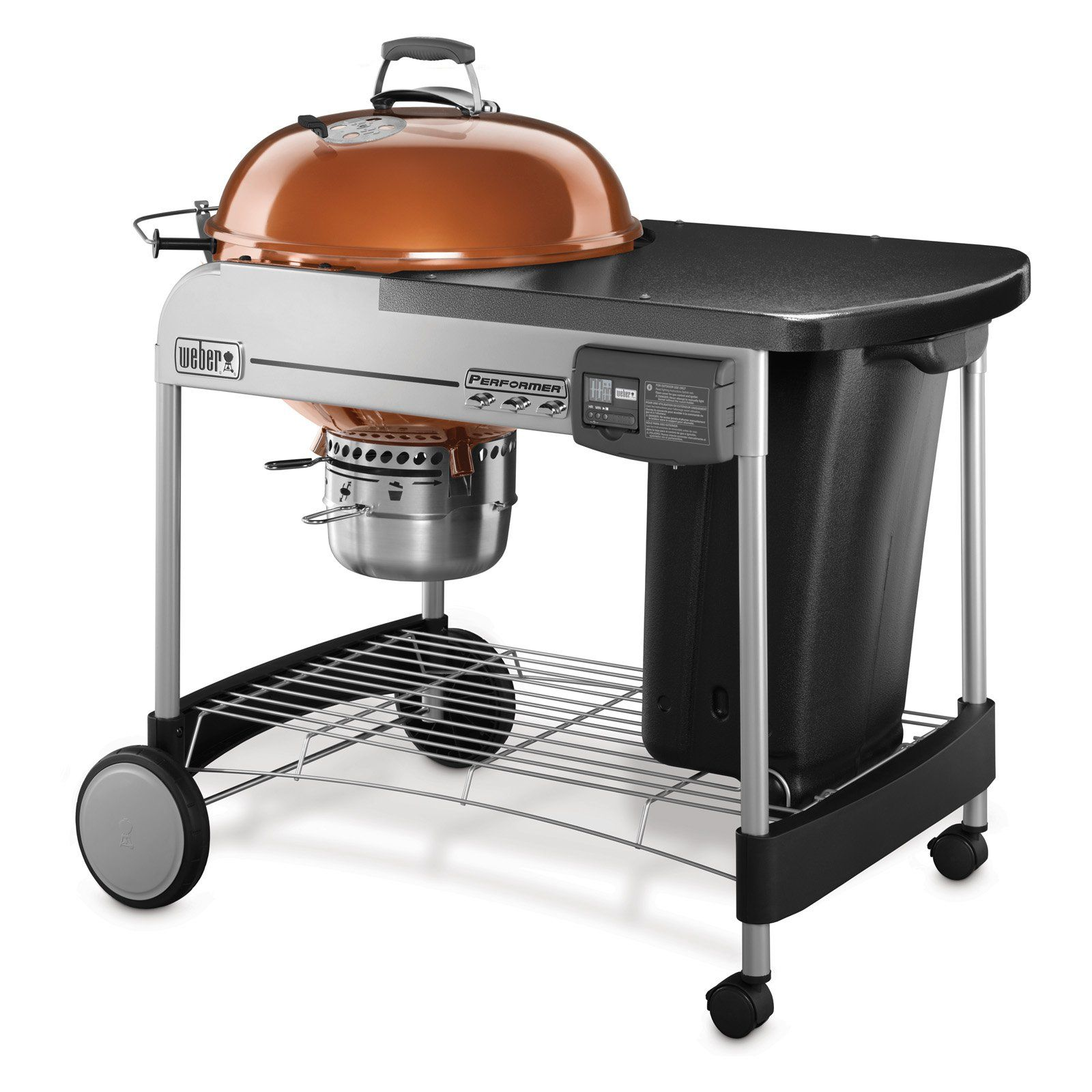 Weber Performer Deluxe Charcoal Grill 22 In Copper Charcoal Grill Kettle Grills Weber Charcoal Grill