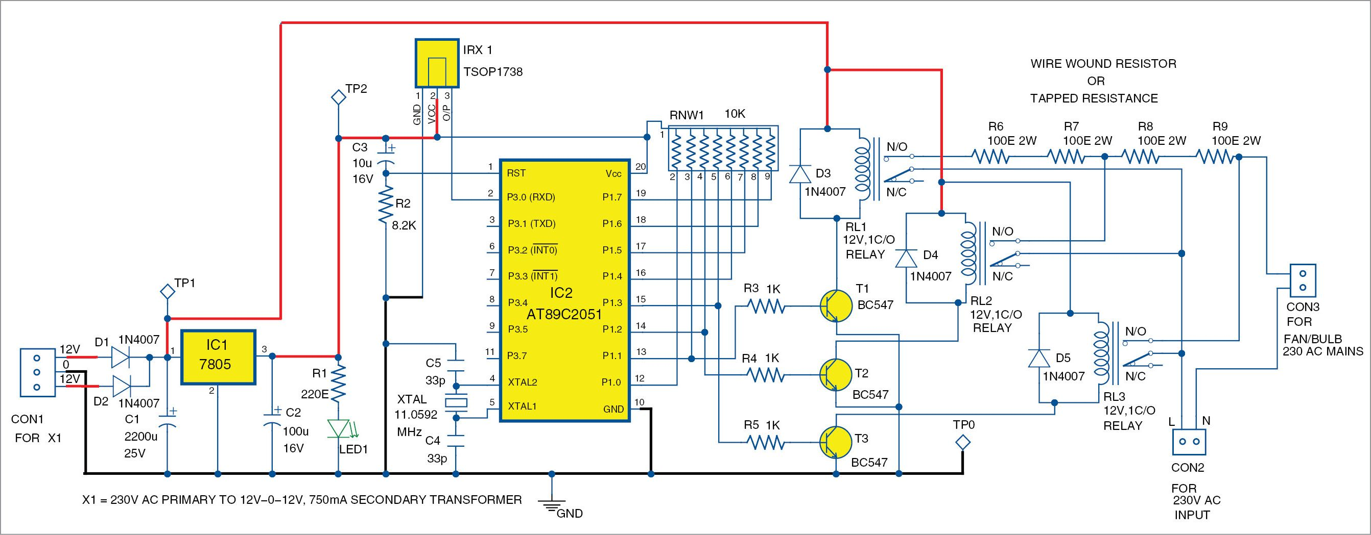 Remote Controlled Smartfan Using At89c2051 Diy Pinterest Design And Construction Of A Fan Regulator From