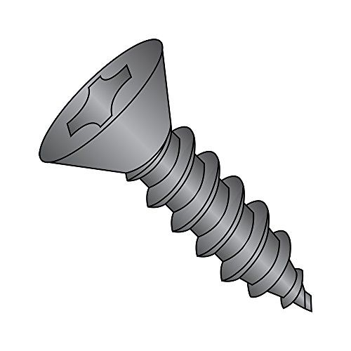 18 8 Stainless Steel Sheet Metal Screw Black Oxide Finish 82 Degrees Flat Head Phillips Drive Steel Sheet Metal Stainless Steel Sheet Metal Screws And Bolts