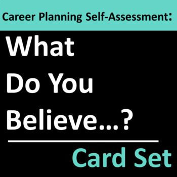 Career Planning Self Assessment Card Set Group Activity Group - personal interests