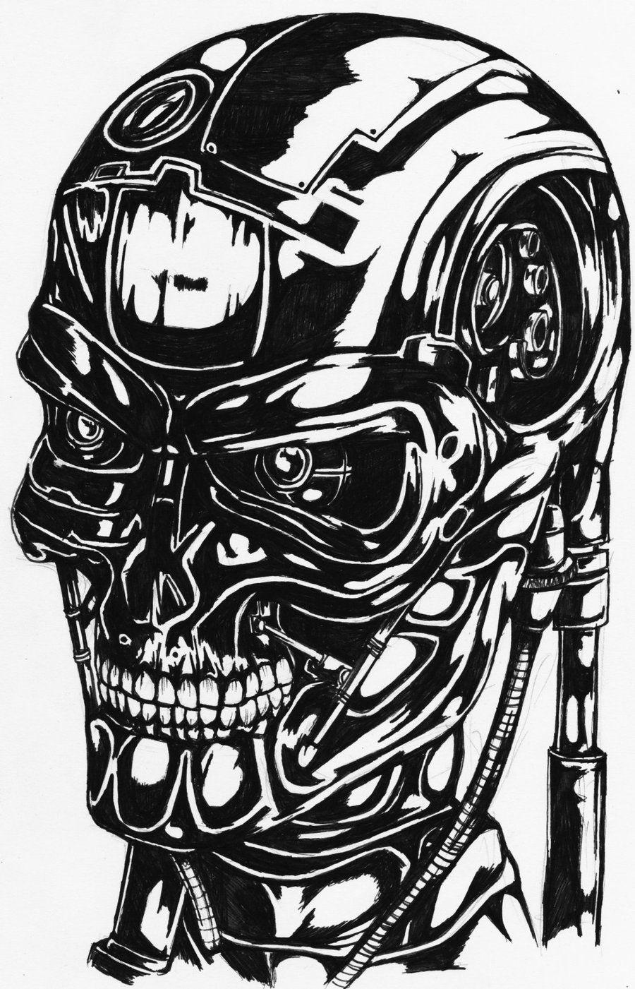 Terminator Portrait By Darkartistdomain Cyborgs Art Art Movie Poster Art