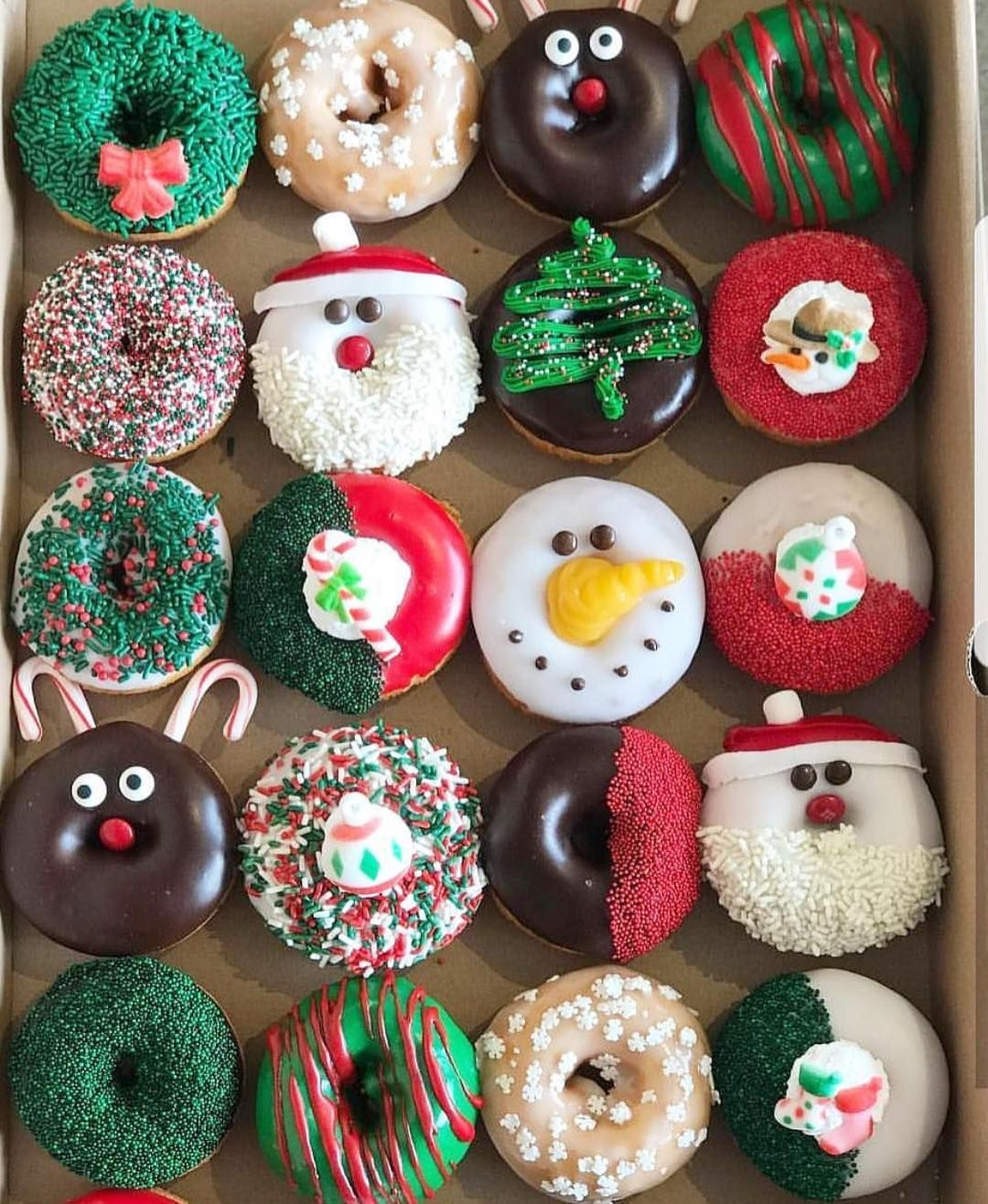Christmas Toppers For Cupcakes.Christmas Donuts Page 5 Of 15 Cute Donuts Christmas