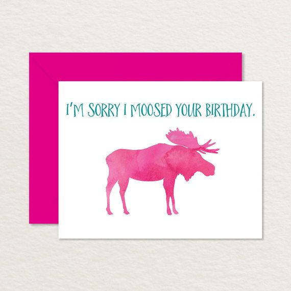 Printable Birthday Card A2 Belated Birthday Card Watercolor
