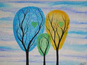 Kirsten Bailey Art Watercolour Watercolor Painting Etsy Family Tree Painting Painting