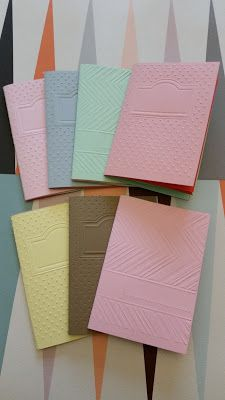 A6 Heftchen aus gefärbtem und geprägtem #SnapPap selbstgemacht #diy