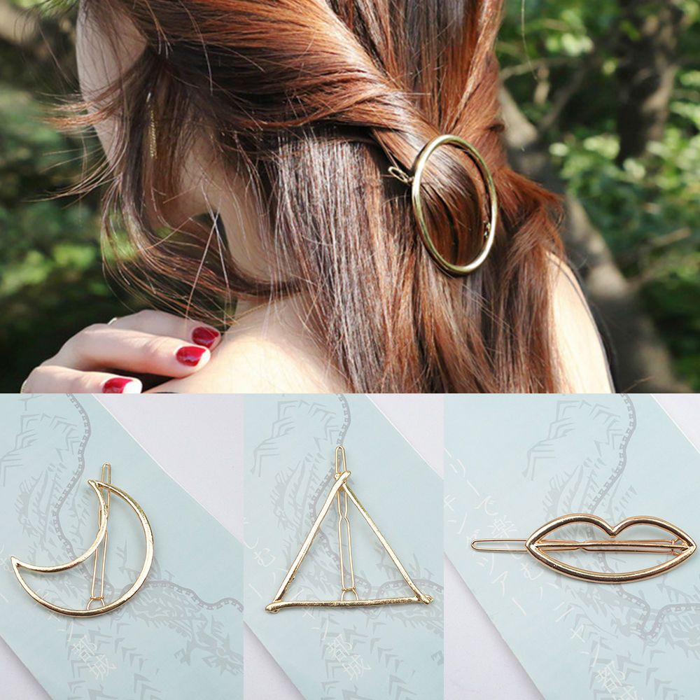 Gold Geometric Hairpin Women Girl's Cute Hair Accessories Simple Hair Side Clips in Clothing, Shoes & Accessories, Women's Accessories, Hair Accessories | eBay